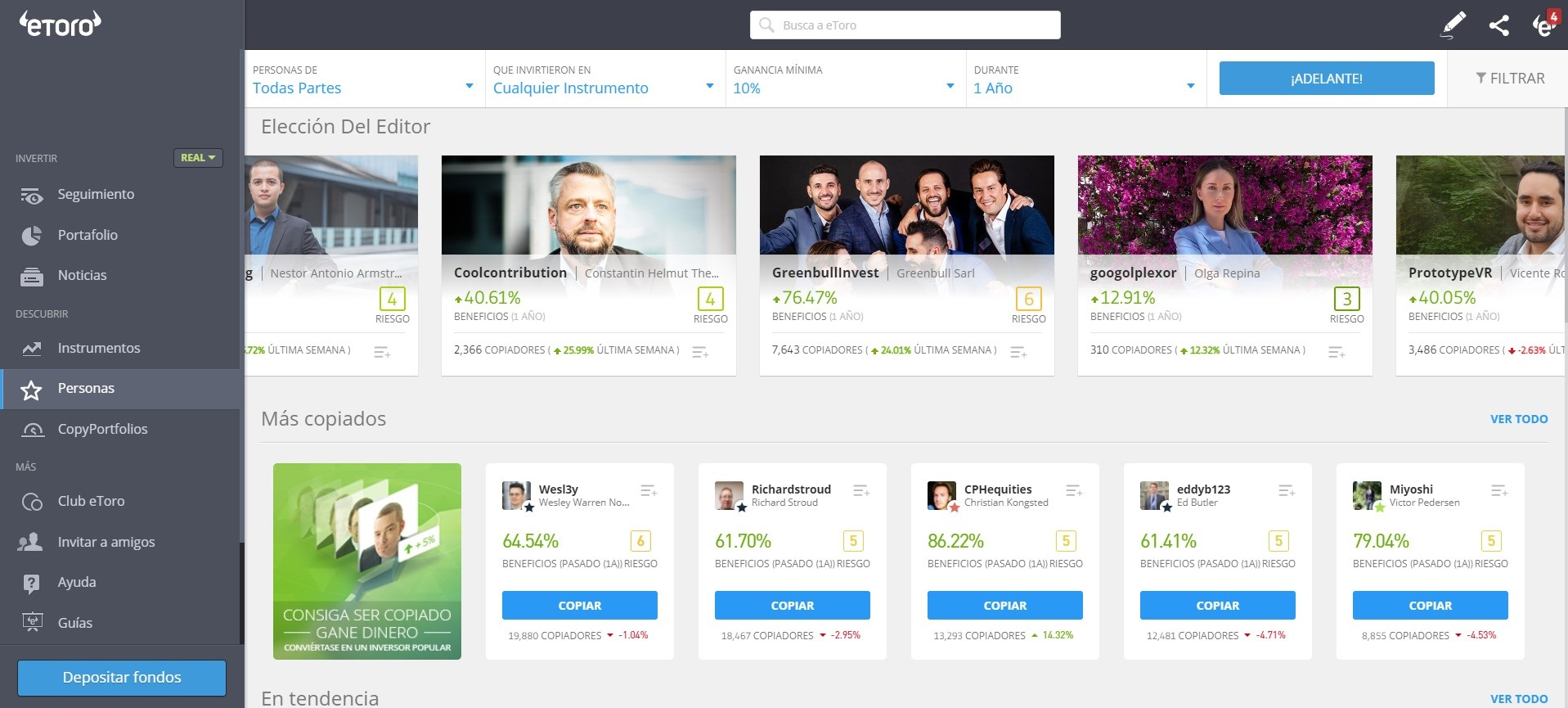 Popular Investor Etoro